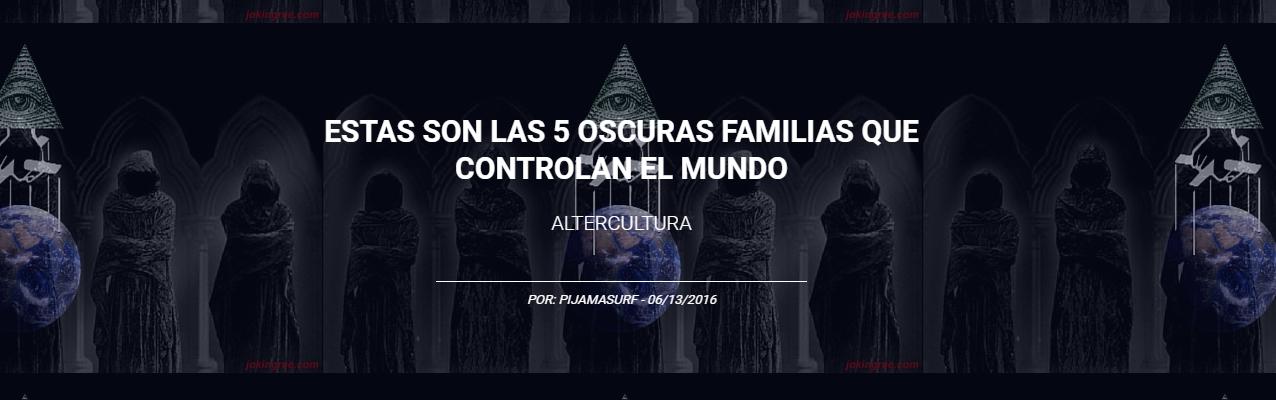 Las 5 familias que controlan el mundo